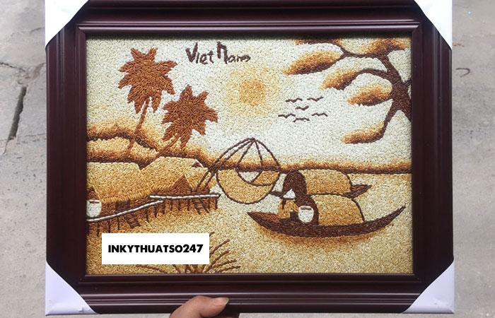 In tranh gạo uv đang là xu hướng trang trí hot thời gian gần đây