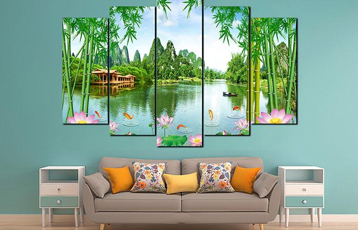 Bức tranh trang trí đẹp sẽ làm tươi mới thêm không gian cho căn nhà