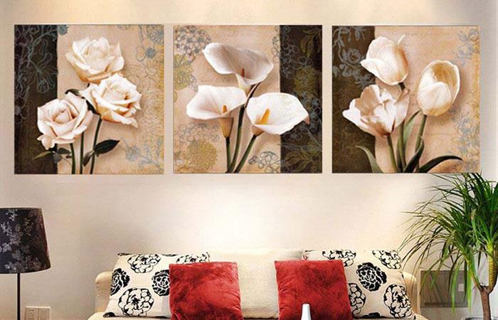 Nên chọn tranh có chủ đề phù hợp với không gian căn nhà