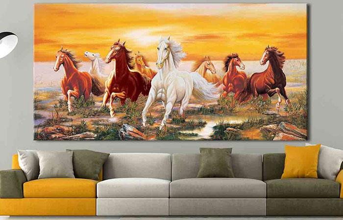 Tranh canvas là loại tranh vừa rẻ, vừa có tính trang trí cao