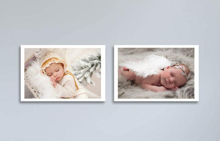 Treo hình có 2 đứa bé sẽ giúp gia chủ có nhiều may mắn về đường con cái