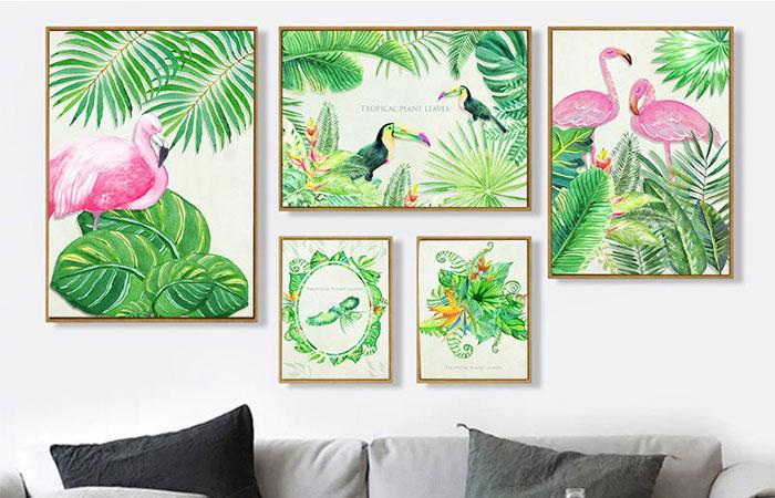 In tranh canvas trang trí nhà mang lại hiệu quả về trang trí và tài lộc may mắn