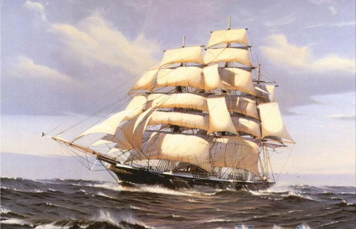 Mẫu tranh thuận buồm xuôi gió thích hợp cho những người đang làm ăn