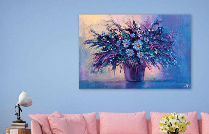 Tranh canvas là loại tranh treo tường có thể trang trí tốt ngoài trời