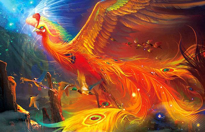 Chim phượng hoàng là biểu tượng cho sự hồi sinh và đi lên