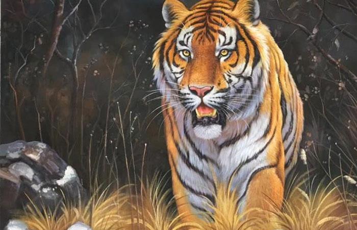 Không nên treo tranh có hình tượng thú dữ đang săn mồi