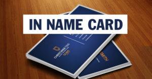Cơ sở chuyên in name card sau 24h có hàng TPHCM