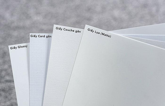 Giấy Couches là chất liệu in name card phổ biến nhất hiện nay