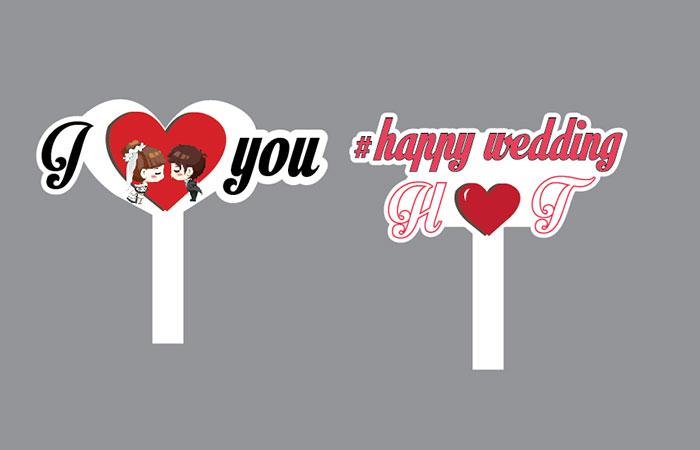 Mẫu hashtag cầm tay dùng trong đám cưới